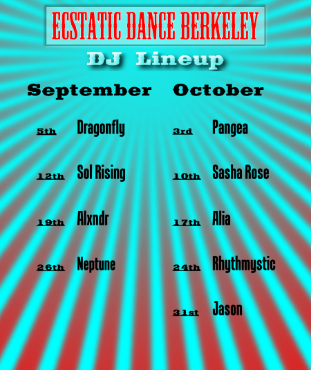 Webpage Banner - DJ Lineup - September, October 2014