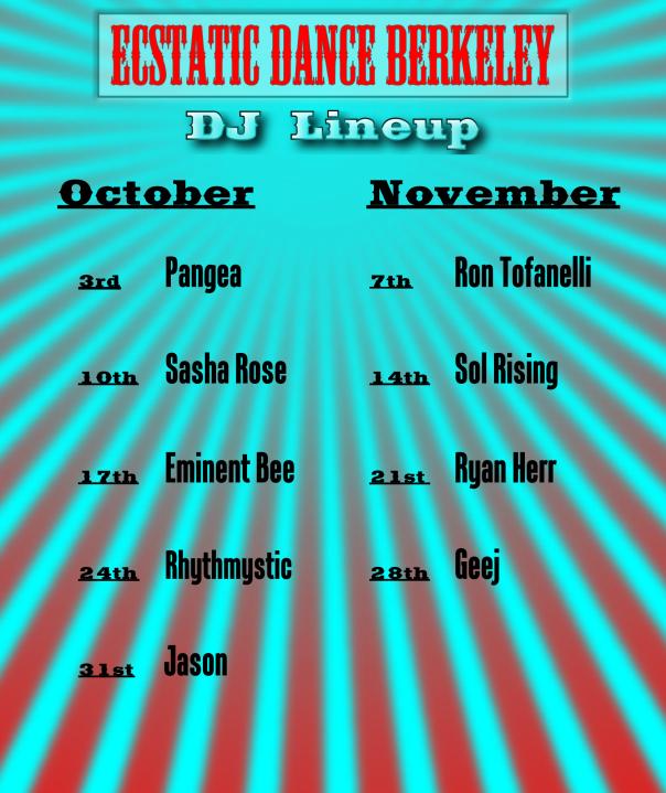 Webpage DJ Line up Oct Nov